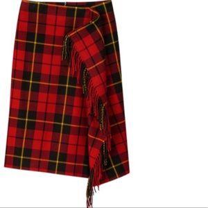 Uniqlo x JW Anderson Women's Fringe Skirt (red)
